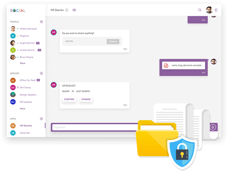 safe and secure chat