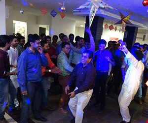 dancing in the party